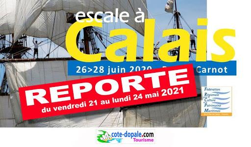 Escale à Calais reporté en 2021