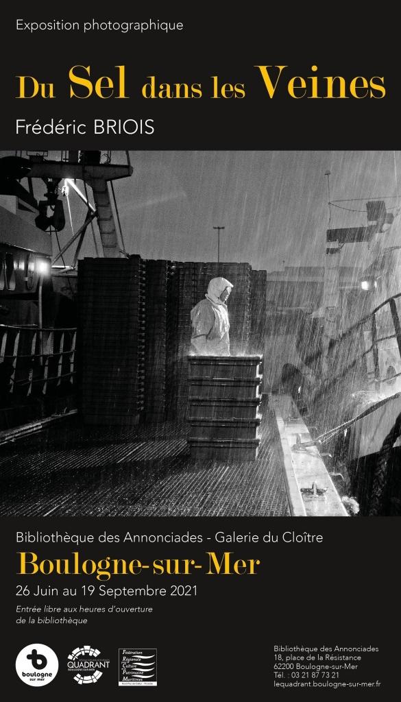 """Affiche expo """"Du Sel dans les veines"""", Bibliothèque des Annonciades, Galerie du Cloître, Boulogne-sur-merFête de la Mer 2021, Boulogne sur Mer"""